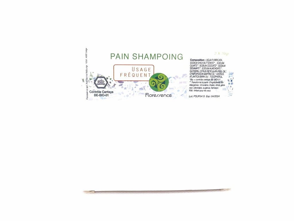 Pain shampoing 70g Bio HE usage fréquent 2X