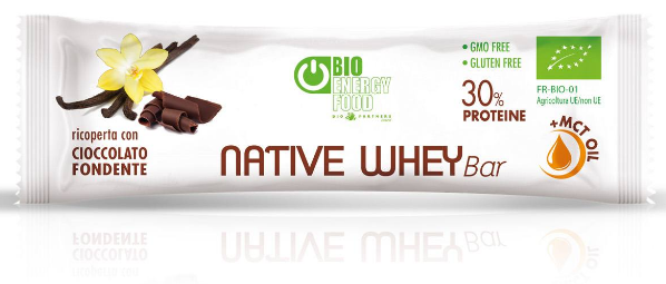 Barre Native Whey protein 30 gr avec MCT vanille